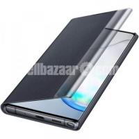 Clear view Flip Cover for Samsung Galaxy Note 10 Plus