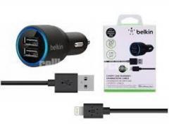 Belkin 2 USB Car Charger, Black 2.1 Amp / 10 Watt Per Port