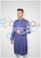 Stylish and Fashionable Semi Long Cotton Panjabi For Men