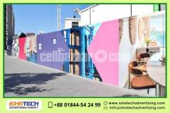 Project Apartment Boundary Fence Wall Advertising Branding for Indoor and Outdoor Wall