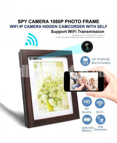 Spy Camera HD Photo Frame Wifi IP Camera Live Hidden Camcorder with Self - 1/6