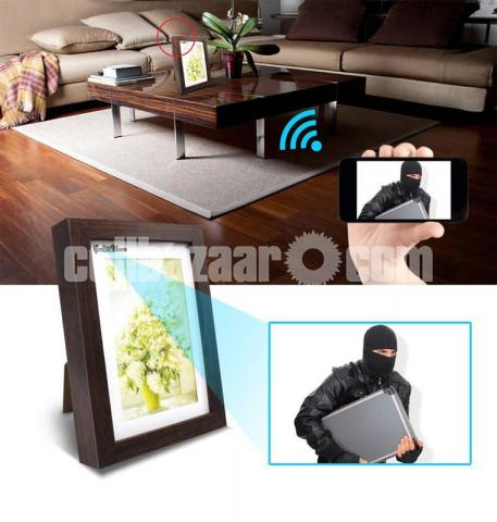 Spy Camera HD Photo Frame Wifi IP Camera Live Hidden Camcorder with Self - 2/6