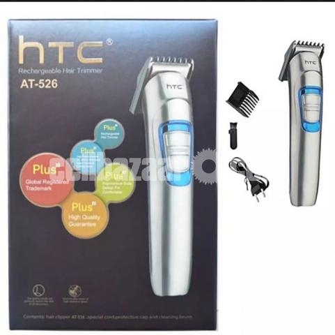 HTC AT 526 Rechargeable Runtime: 45 min Trimmer for Men  (Si - 1/3