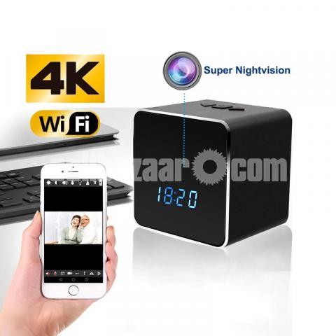 Spy Camera Bluetooth Speaker 4K Wifi IP Camera Video with Voice Recorder - 1/6