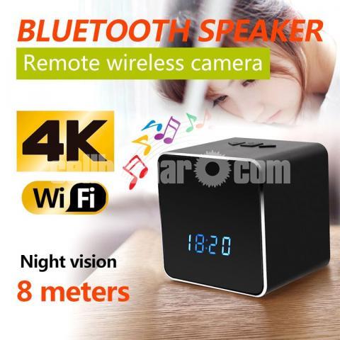 Spy Camera Bluetooth Speaker 4K Wifi IP Camera Video with Voice Recorder - 2/6