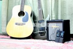Acoustic  + Electric Ibanez + Zoom  processor + Alphonso AMplifier For Sale (Combo)