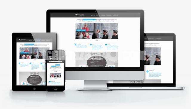 RESPONSIVE WEBSITE TEMPLATE PSD DESIGN - 1/1