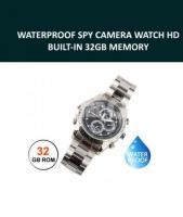 Waterproof Spy Camera Watch Built-in 32GB Memory with Voice & Video Recording System