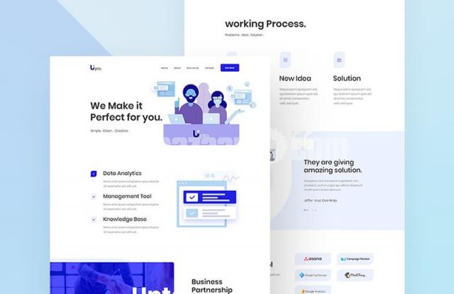 SQUEEZE PAGE PSD DESIGN - 1/1