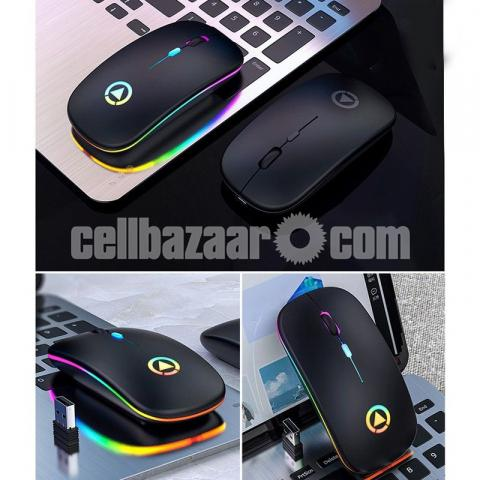 Rechargeable wireless Silent Mouse with LED Light - 2/5