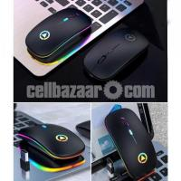 Rechargeable wireless Silent Mouse with LED Light