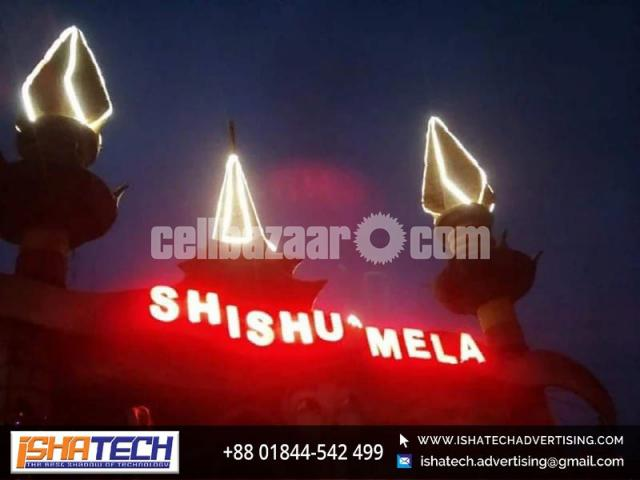 Acp Board Acrylic Letter with Led Light for Outdoor and Indoor in Dhaka, Bangladesh. - 3/4