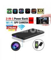 Spy Camera 4K Powerbank H8 Live Wifi IP Camera Video with Voice Recorder