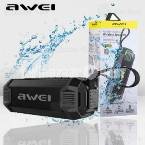 Awei Y280 IPX4 Bluetooth Speaker Power Bank with Enhanced Bass, Built-in Mic, Support FM/USB/TF Card - 2/2