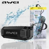 Awei Y280 IPX4 Bluetooth Speaker Power Bank with Enhanced Bass, Built-in Mic, Support FM/USB/TF Card
