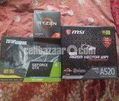 Ryzen 3 3100 & MSI MAG A520M Vector Wifi ( full 3yrs Warrenty)