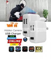 Spy Camera 4K Live Wifi IP Camera Charger Adapter Video with Voice Recorder