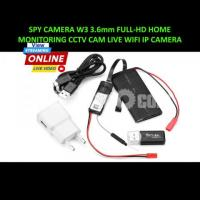 Spy Camera Live Monitoring Wifi IP Camera W3 3.6mm Full-HD Home Security
