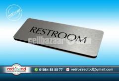 Door Nameplate Acp Board Acrylic Letter and Glass Nameplate UV Print BrandingIndoor Outdoor