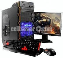 "Desktop PC-6th Gen Core i3 PC with 19"" Hp LED"