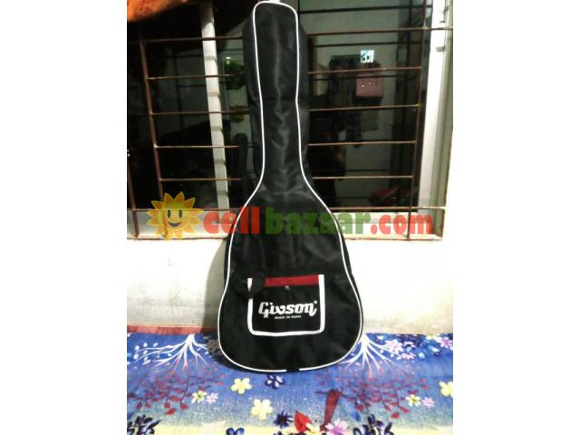 new Acoustic guiter with bag - 4/5