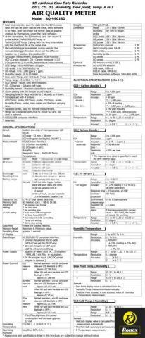 Lutron AQ-9901SD Air Quality Meter in Bangladesh - 6/6