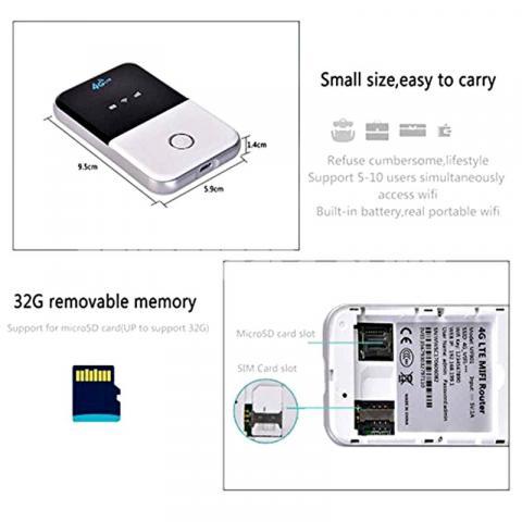 Pocket Router 4G LTE Wifi Wireless Portable Modem Mobile Hotspot - 5/5
