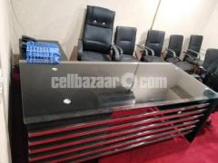 Office glass table and chair