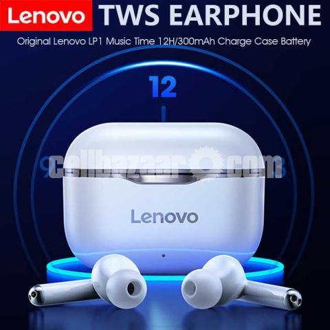 Lenovo LP1 TWS Waterproof Sport Earbud Bluetooth 5 Noise Cancelling Mic Dual Stereo HIFI. - 1/1