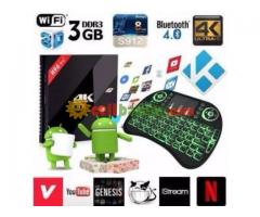 4K 3D Android Smart TV Live Box New