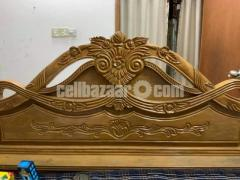 Semi double bed (Original Segun wood)