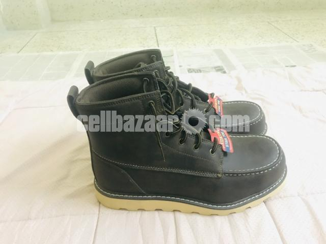 Big Mac Mens Oak Leather Closed Toe Ankle Safety Boots - 2/8