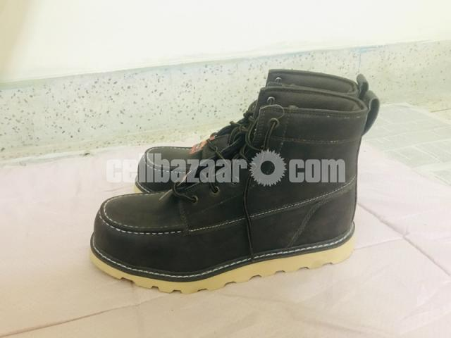 Big Mac Mens Oak Leather Closed Toe Ankle Safety Boots - 4/8