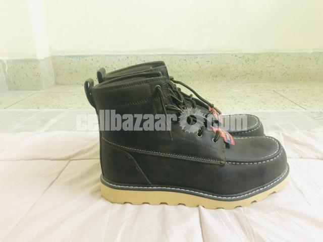 Big Mac Mens Oak Leather Closed Toe Ankle Safety Boots - 6/8