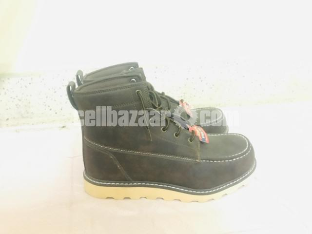 Big Mac Mens Oak Leather Closed Toe Ankle Safety Boots - 7/8