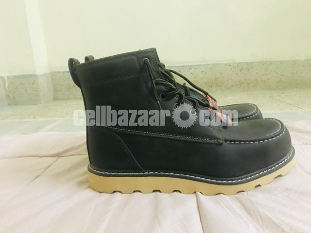 Big Mac Mens Oak Leather Closed Toe Ankle Safety Boots - 8/8