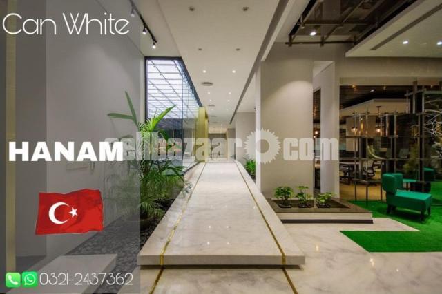 White Marble Tiles - 5/6