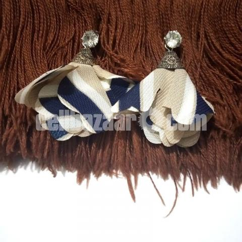 3 pairs Cloth Earring for Girls - 1/4