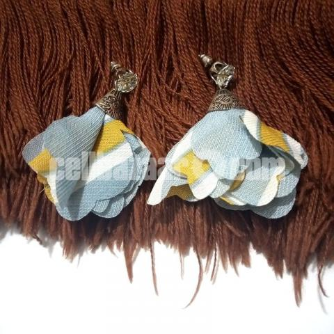 3 pairs Cloth Earring for Girls - 2/4