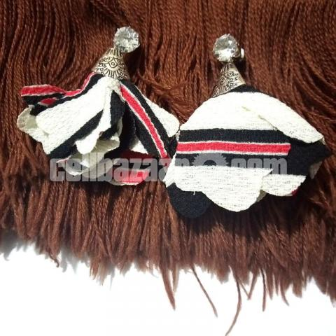 3 pairs Cloth Earring for Girls - 3/4