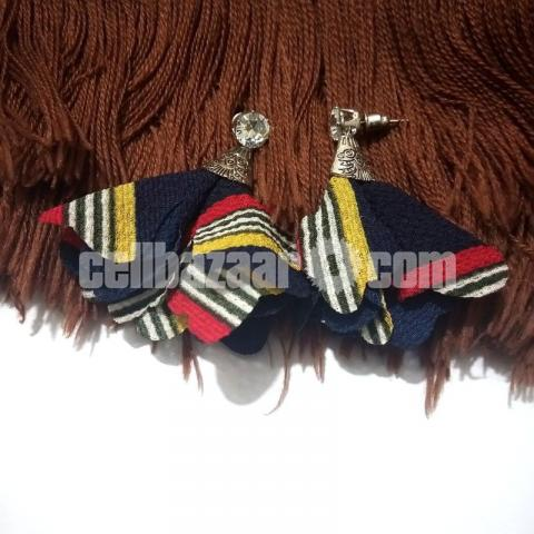 3 pairs Cloth Earring for Girls - 4/4