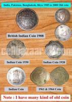 Old coin British, Indian, Pakistani