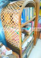 Bookshelf made of cane