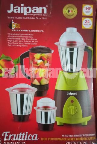 Jaipan Fruttica Mixer Grinder & Blender 4 IN 1-750W(1 HP Powerful motor) - 3/8