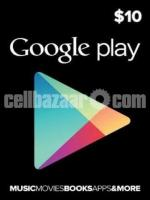 Google play gift card 10$ (USA region only)