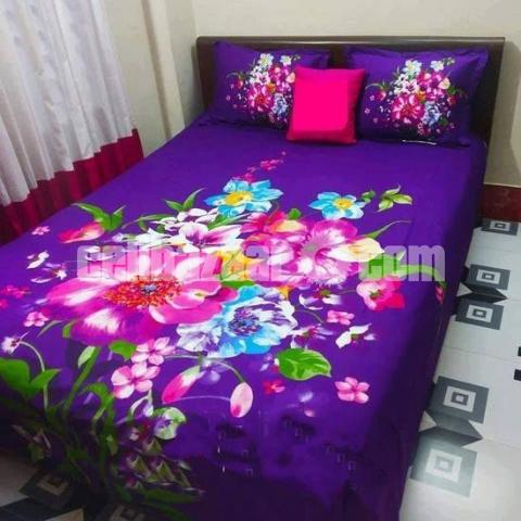 King Size Panel Cotton Bed Sheet - 1/5
