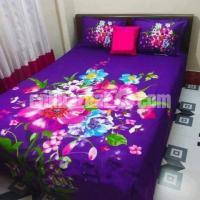 King Size Panel Cotton Bed Sheet