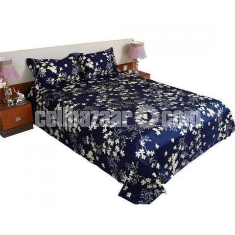King Size Panel Cotton Bed Sheet - 2/5