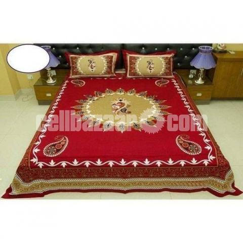 King Size Panel Cotton Bed Sheet - 3/5