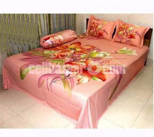 King Size Panel Cotton Bed Sheet - 4/5